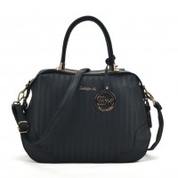 SY2144 Black - Sally Young Women Large Tote Bag