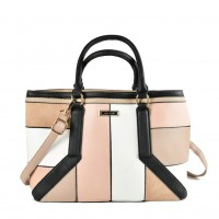 SY2147 Pink - Oversized Patchwork Tote Bag