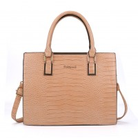 SY2152 Apricot - Crocodile Large Tote Bag With Metal Detail