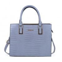 SY2152 Blue - Crocodile Large Tote Bag With Metal Detail