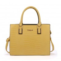 SY2152 Yellow - Crocodile Large Tote Bag With Metal Detail
