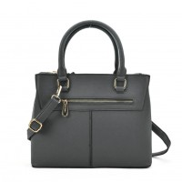 SY2154 Grey - Lady Front Zipper Tote Bag