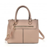 SY2154 Pink - Lady Front Zipper Tote Bag