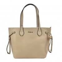 SY2155 Beige - Women Tote Bag With Metal Detail