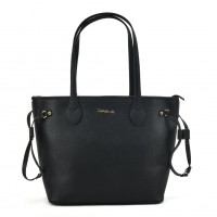 SY2155 Black - Women Tote Bag With Metal Detail
