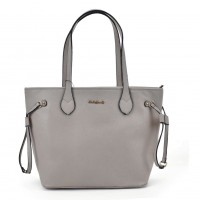 SY2155 Grey - Women Tote Bag With Metal Detail