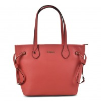 SY2155 Red - Women Tote Bag With Metal Detail