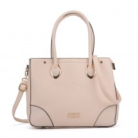 SY2156 Beige - Women Tote Bag With Metal Detail