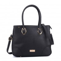 SY2156 Black - Women Tote Bag With Metal Detail