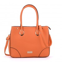 SY2156 Orange - Women Tote Bag With Metal Detail