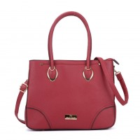 SY2156 Red - Women Tote Bag With Metal Detail
