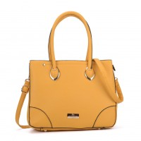SY2156 Yellow - Women Tote Bag With Metal Detail