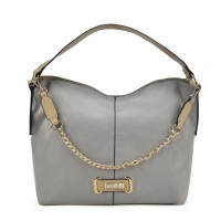 SY2159 Grey - Chain Handle Slouch Bag