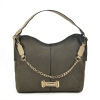 SY2159 Olive - Chain Handle Slouch Bag