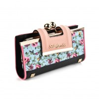 SY5025 Light blue - Floral Pattern Women Fashion Buckle Wallet