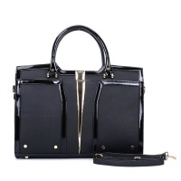 SY5032 Black - Classic Women Casual Patchwork Handbag