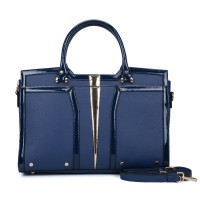 SY5032 Blue - Classic Women Casual Patchwork Handbag
