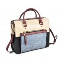 SY5035 Blue - Women Patchwork Casual Handbag
