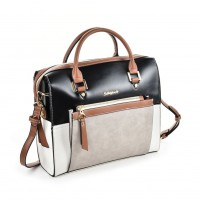 SY5035 Brown - Women Patchwork Casual Handbag