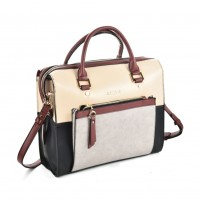 SY5035 Grey - Women Patchwork Casual Handbag