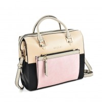 SY5035 Pink - Women Patchwork Casual Handbag