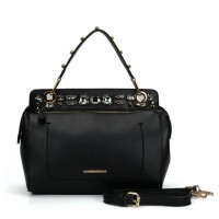 SY5039 Black - Diamante Elegant Solid Women Fashion Handbag