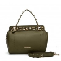 SY5039 Green - Diamante Elegant Solid Women Fashion Handbag