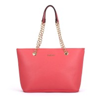 SY5044 Pink - Winged Tote Bag With Chain Straps