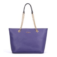 SY5044 Purple - Winged Tote Bag With Chain Straps