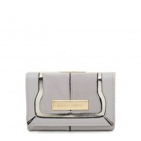 SY5052 Grey - Short Wallet With Geometric Pattern