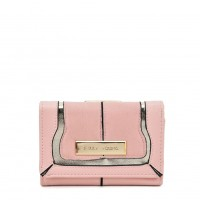SY5052 Pink - Short Wallet With Geometric Pattern