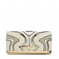 SY5053 Beige - Long Wallet With Geometric Pattern
