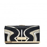 SY5053 Black - Long Wallet With Geometric Pattern