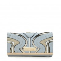 SY5053 Blue - Long Wallet With Geometric Pattern
