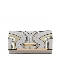 SY5053 Grey - Long Wallet With Geometric Pattern
