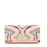 SY5053 Pink - Long Wallet With Geometric Pattern
