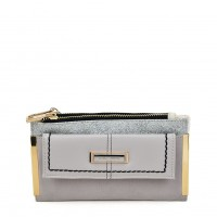 SY5054 Grey - Long Wallet With Flap Design