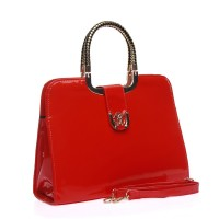 VK1275-3 Red - Elegant Solid Designer Women Handbags