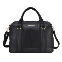 VK1646-2 Black - Modern Patchwork Business Bag Shoulder Bag