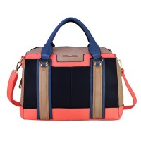 VK1646-2 Orange - Modern Patchwork Business Bag Shoulder Bag
