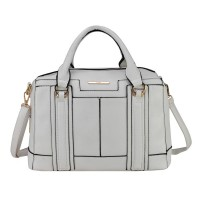 VK1646-2 White - Modern Patchwork Business Bag Shoulder Bag