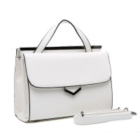 VK1664 White - Lady Style Fashion Elegant Handbag