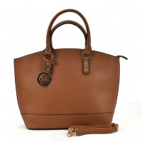 VK2009-1 Brown - Fashion Oversized Tote Bag