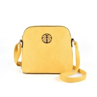 VK2037 Yellow - Fashion Simple Sequined Flap Women Shoulder Bags