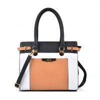VK2049 Black - Patchwork Simple Women Handbag