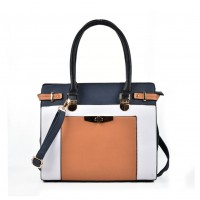VK2049 Blue - Patchwork Simple Women Handbag