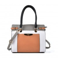 VK2049 Grey - Patchwork Simple Women Handbag