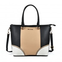 VK2052 Apricot - Patchwork Women Zipper Handbag