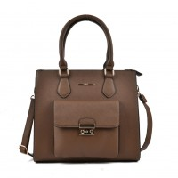 VK2054 Brown - Classic Design Women Sold Handbags