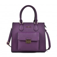 VK2054 Purple - Classic Design Women Sold Handbags